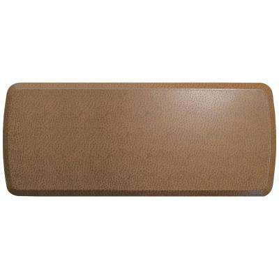 Elite Quill Toast 20 in. x 48 in. Comfort Kitchen Mat