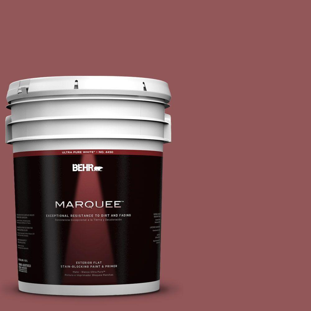 BEHR MARQUEE 5-gal. #150F-6 Gallery Red Flat Exterior Paint
