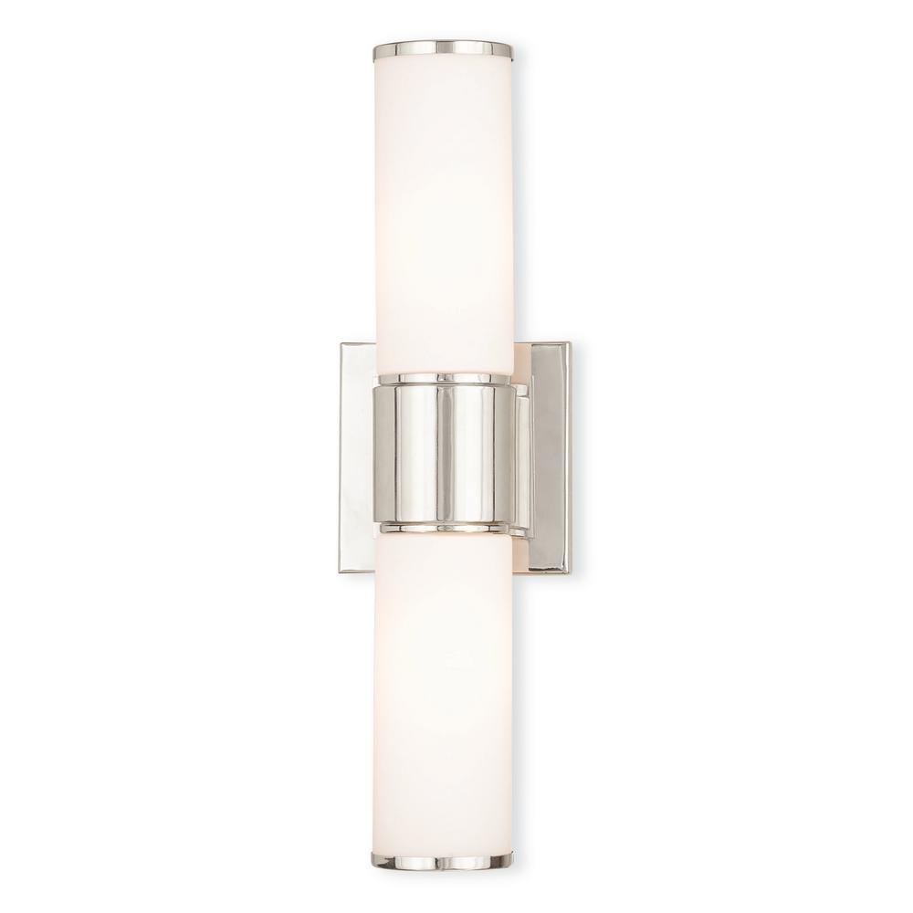 Livex Lighting Weston 2 Light Polished Nickel Ada Bath Light 52122 35 The Home Depot