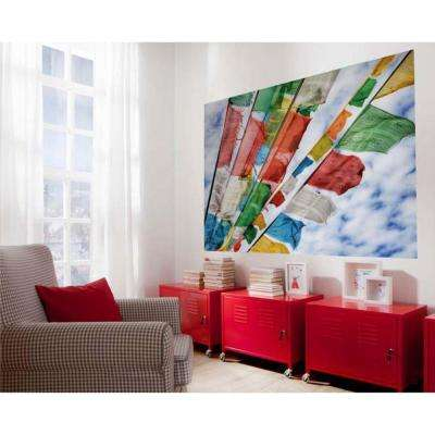 50 in. x 72 in. Prayer Flags Wall Mural
