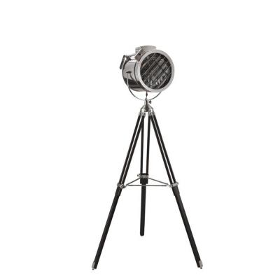 66 in. Adjustable Black Tripod Hollywood Spotlight Chrome Silver Floor Lamp