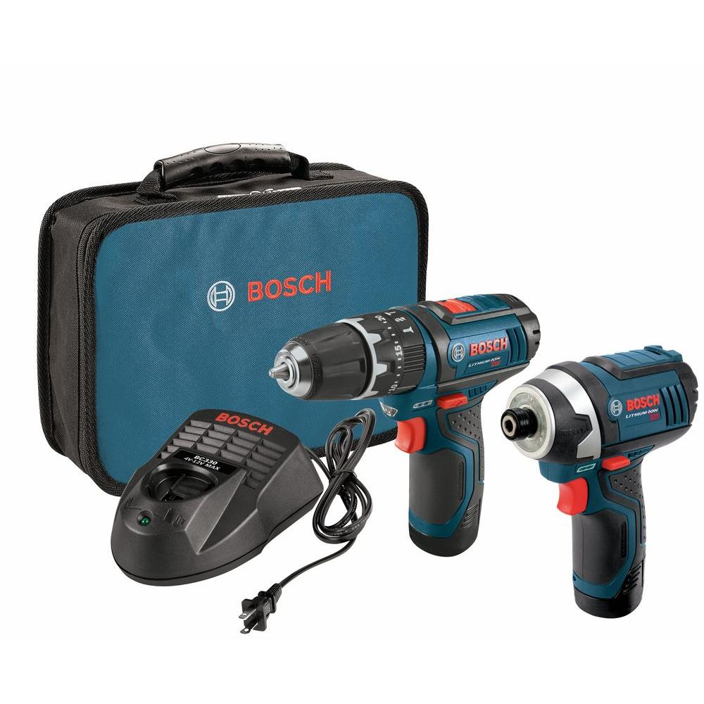 Bosch 12-Volt Lithium-Ion Cordless 3/8 in. Drill/Driver and 1/4 in. Impact Driver Combo Kit with 2-2.0 Ah Batteries (2-Tool)