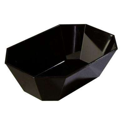 5# Octagonal Deli Serving Crock in Black (Case of 6)