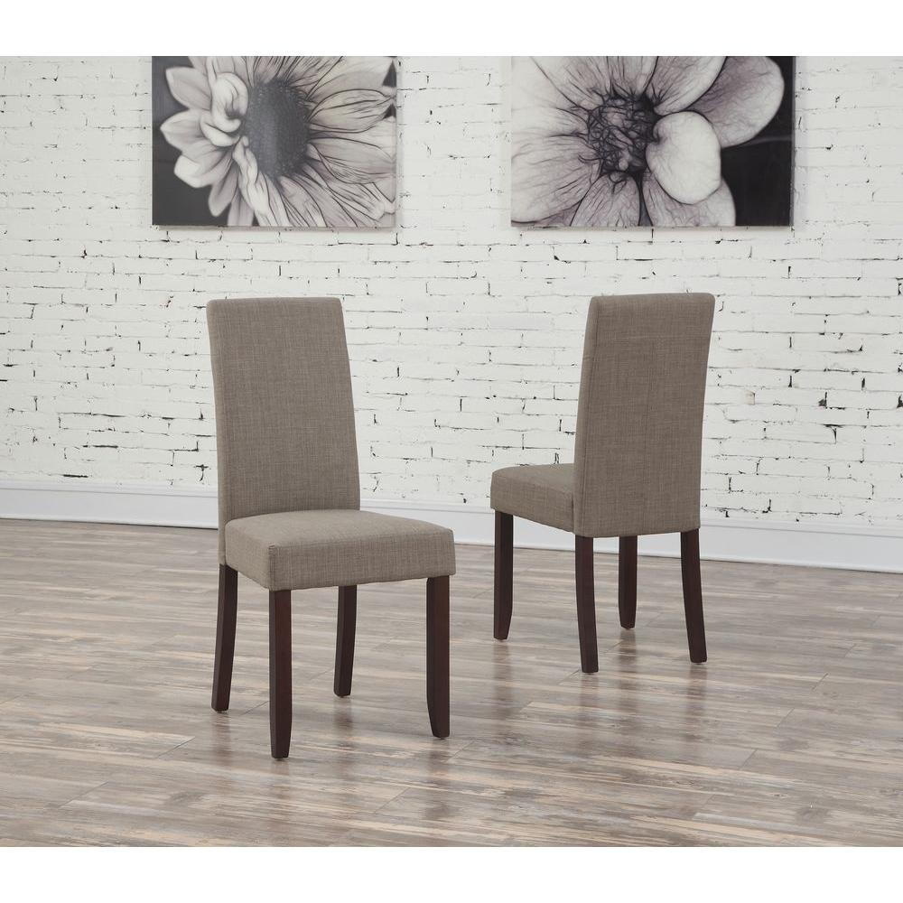 Simpli Home Acadian Light Mocha Parsons Dining Chair (Set Of  2) WS5113 4 LML   The Home Depot