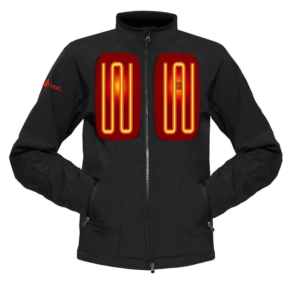 Men's Medium Black Softshell 5-Volt Heated Jacket