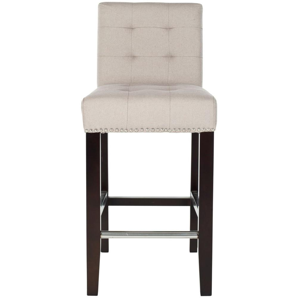 Safavieh Thompson 258 In Taupe Cushioned Bar Stool Mcr4511b The