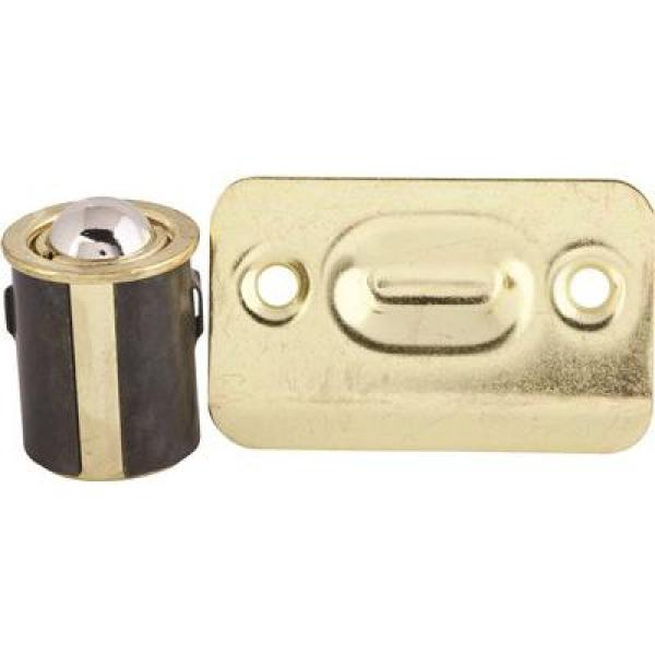 Brass Plated Cabinet Drive-In Bullet Ball Catch (5-Pack)