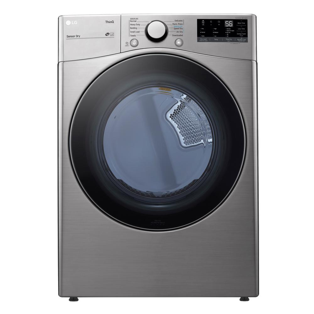 Lg Electronics 7 4 Cu Ft Ultra Large Capacity Graphite Steel Electric Dryer With Sensor Dry Dle3600v The Home Depot