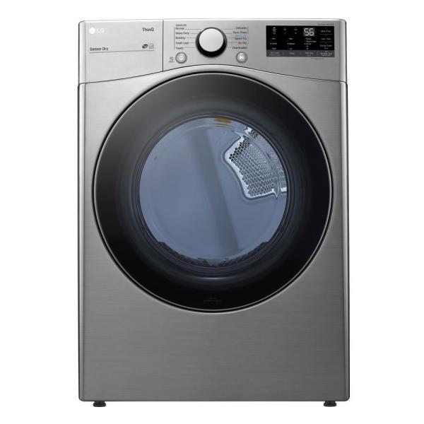 7.4 cu. ft. Ultra Large Capacity Graphite Steel Electric Dryer with Sensor Dry