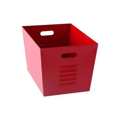 12 in. W x 11 in. H x 17 in. D Galvanized Steel Red Utility Storage Bins (6-Pack)