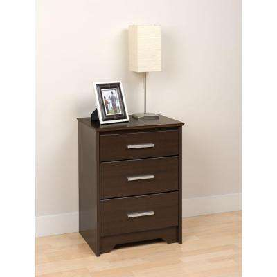 Edenvale 3-Drawer Espresso Nightstand