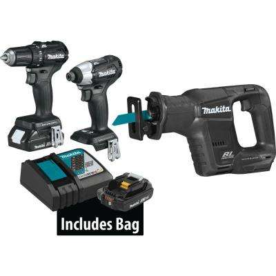 18-Volt LXT Lithium-Ion Sub-Compact Brushless Cordless 3-piece Combo Kit (Driver-Drill/Impact Driver/Recipro Saw) 2.0Ah