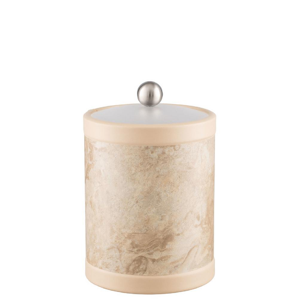 Sand Stone 2 Qt. Tall Tan Ice Bucket with Bale Handle
