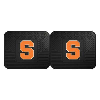 NCAA Syracuse University Black Heavy Duty 2-Piece 14 in. x 17 in. Vinyl Utility Mat