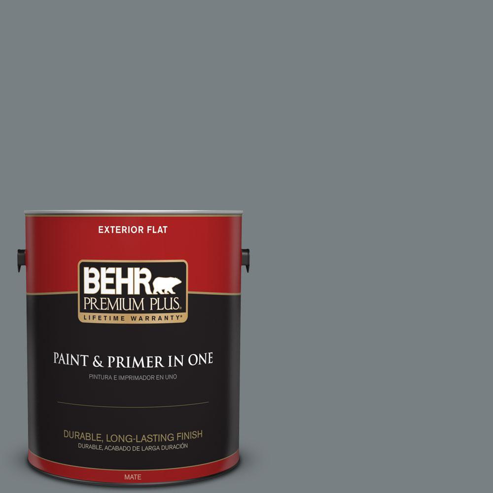 BEHR Premium Plus 1-gal. #N450-5 Intergalactic Flat Exterior Paint ...
