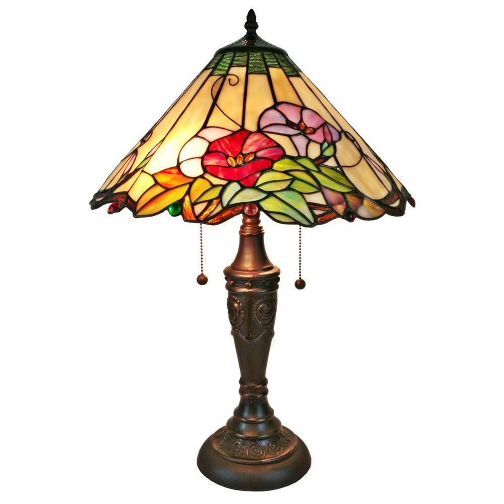 Amora Lighting 24 in. Multicolored Table Lamp