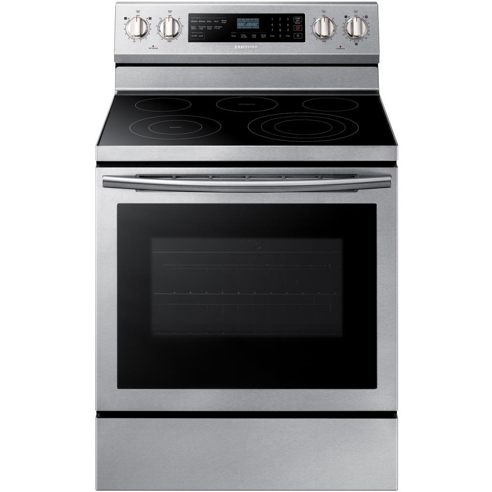 30 in. 5.9 cu. ft. Single Oven Electric Range with Self-Cleaning,