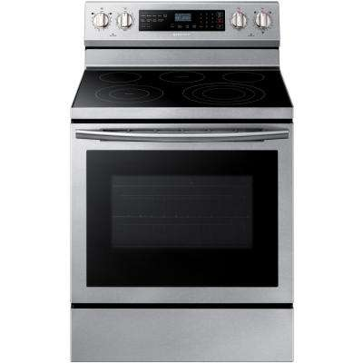 30 in. 5.9 cu. ft. Single Oven Electric Range with Self-Cleaning, True Convection in Stainless Steel