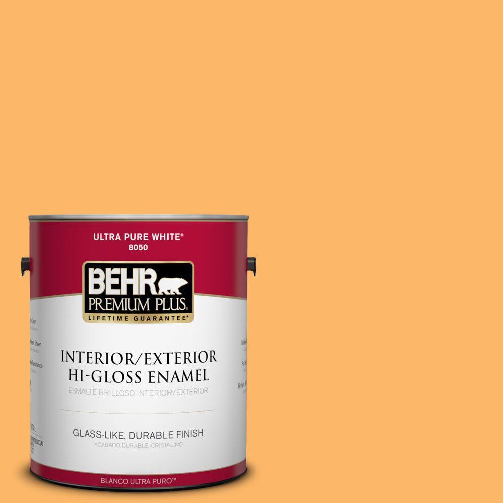 1-gal. #HDC-SM14-11 Yellow Polka Dot Hi-Gloss Enamel Interior/Exterior Paint