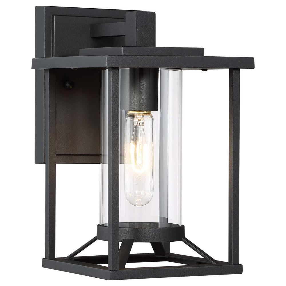 Trescott 1-Light Black Outdoor Wall Lantern Sconce