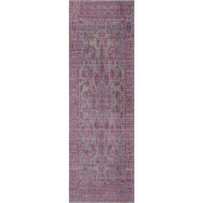 Ambrosia Falling Petals Purple 2 ft. 0 in. x 3 ft. 0 in. Rectangular Accent Rug