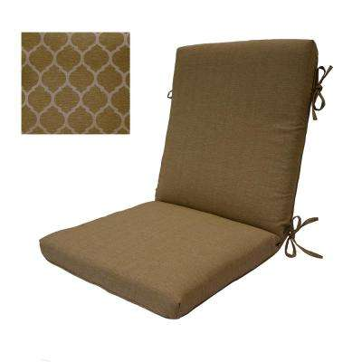 Toffee Trellis High Back Outdoor Dining Chair Cushion