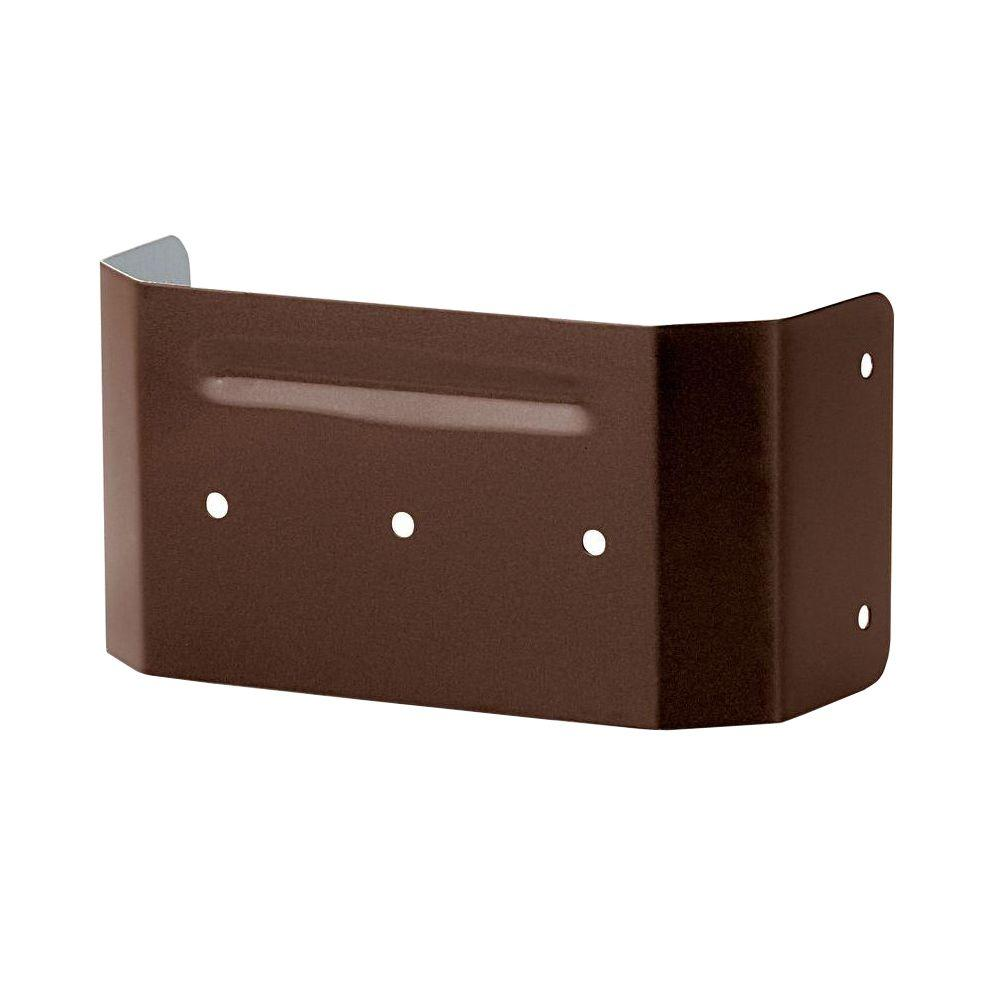 PRO 4 in. Brown Aluminum Downspout Clip
