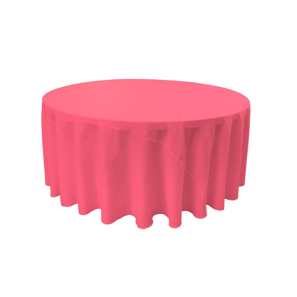 Beau LA Linen 120 In. Hot Pink Polyester Poplin Round Tablecloth