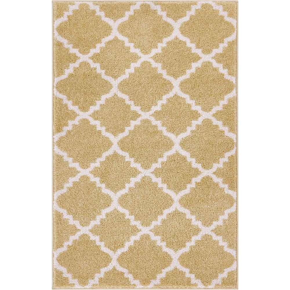 Well Woven Sydney Lulu S Lattice Trellis Gold 2 Ft X 4 Modern Area Rug