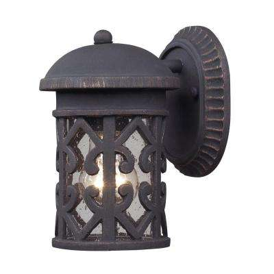 Tuscany Coast Light Outdoor Weathered Charcoal Wall Sconce