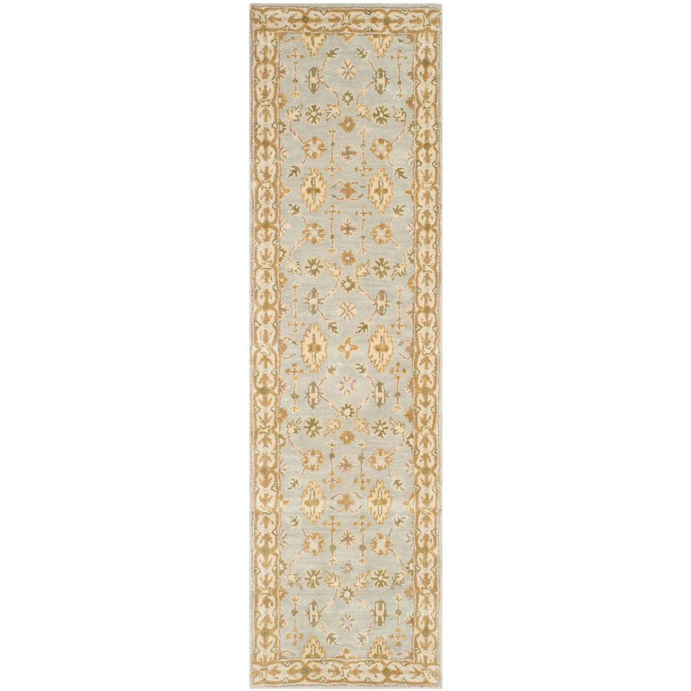 Classic Light Blue/Ivory 2 ft. 3 in. x 8 ft. Runner