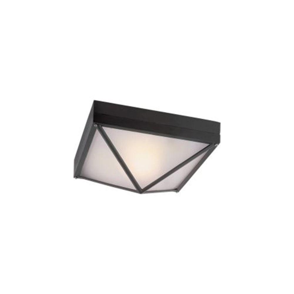Bel Air Lighting Stewart 1-Light Outdoor Black Incandescent Flush Mount