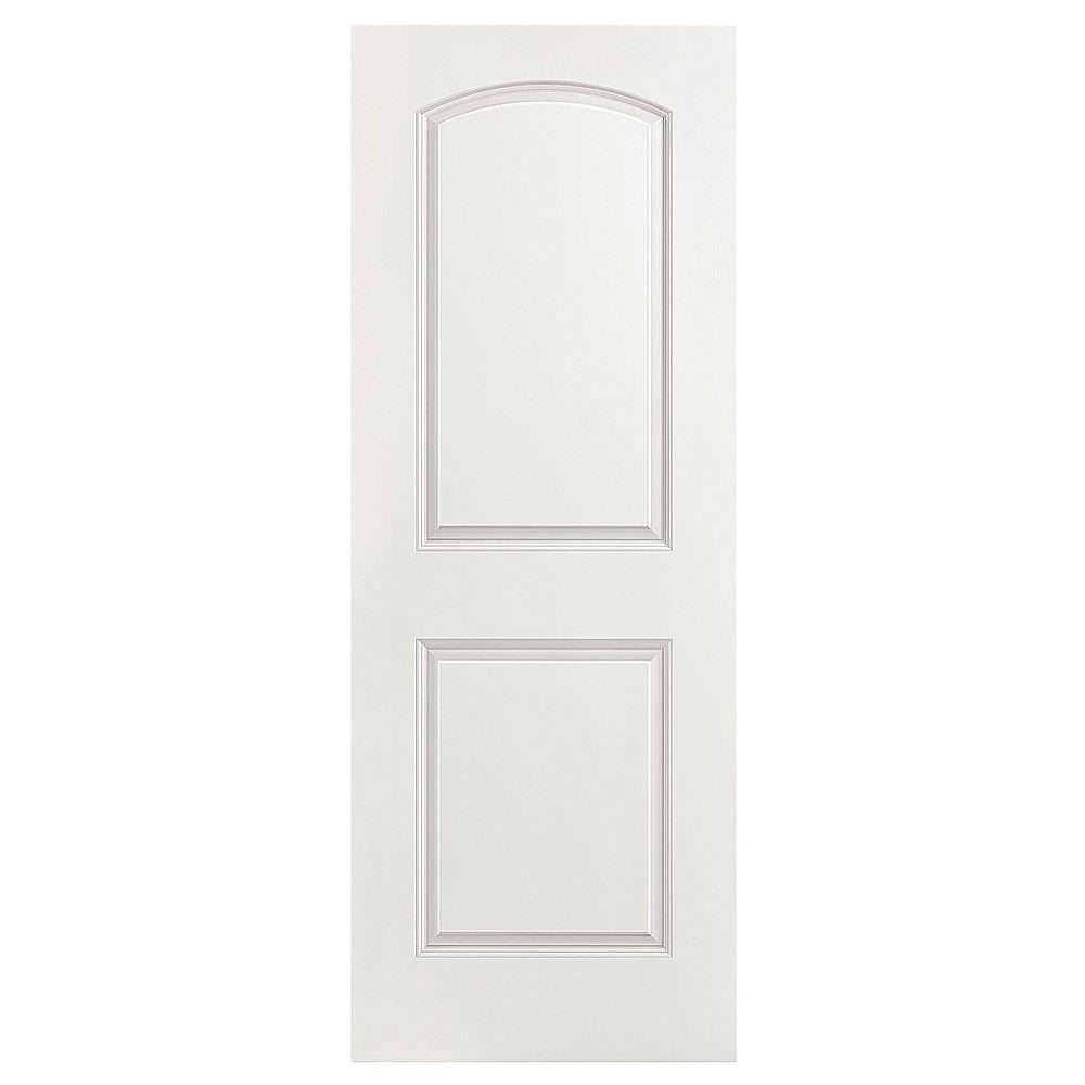 Masonite 30 in x 80 in roman smooth 2 panel round top hollow core roman smooth 2 panel round top hollow core primed composite interior door slab 11093 the home depot planetlyrics Choice Image