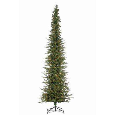 9 ft. Natural Cut Narrow Lincoln Pine Artificial Christmas Tree with 450 Clear Lights