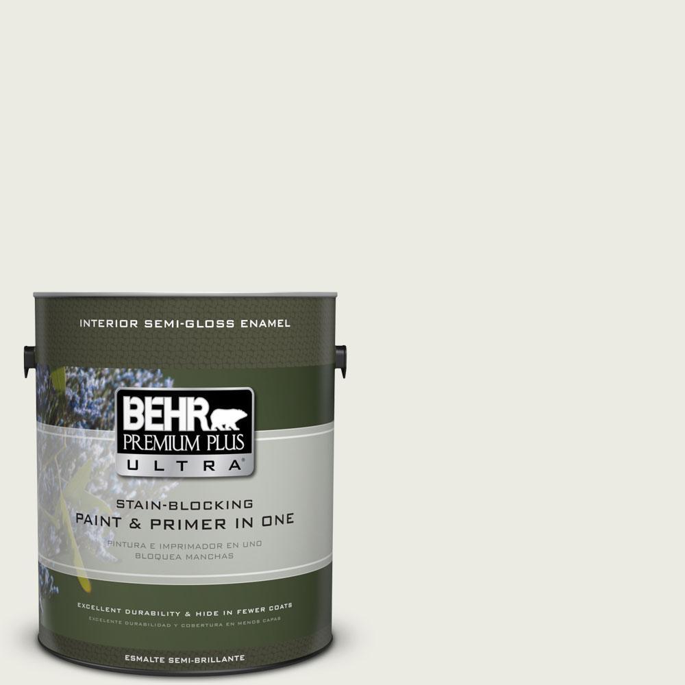 BEHR Premium Plus Ultra 1-gal. #GR-W8 Arcade White Semi-Gloss Enamel Interior Paint