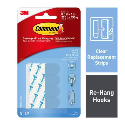 1.75 in. Small Clear Refill Strips (16-Pack)