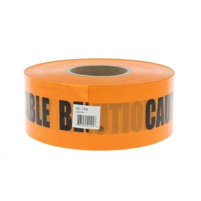 3 in. x 1,000 ft. Non-Detect Underground Caution Buried Fiber Optic Line, Orange