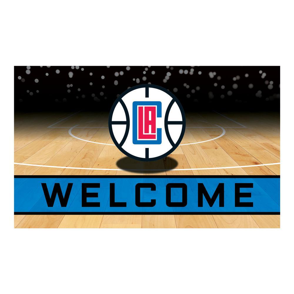 NBA - Los Angeles Clippers 18 in. x 30 in. Rubber Door Mat