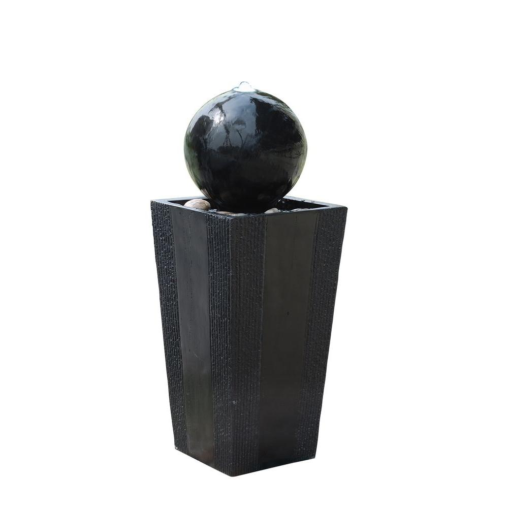 Alpine Corporation Ball on Stand Fountain with LED Lights