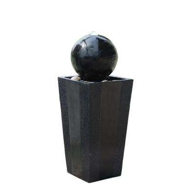 Ball on Stand Fountain with LED Lights