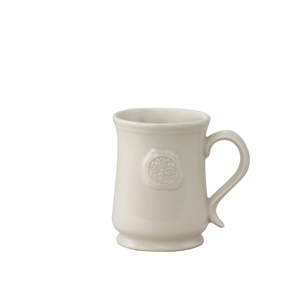Levingston 16 oz. Cream Ceramic Coffee Mug (Set of 4)