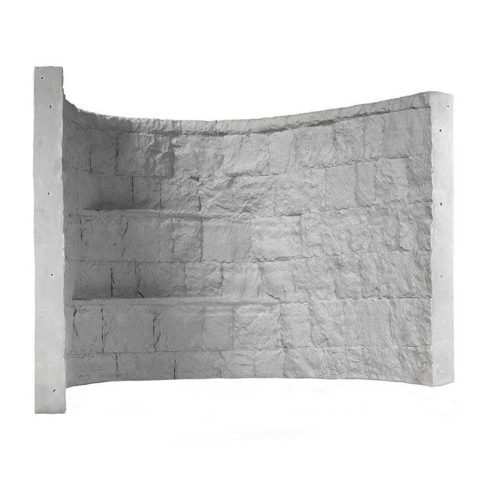 Rockwell 66 in. x 44 in. x 48 in. Grey Elite Composite Window Well