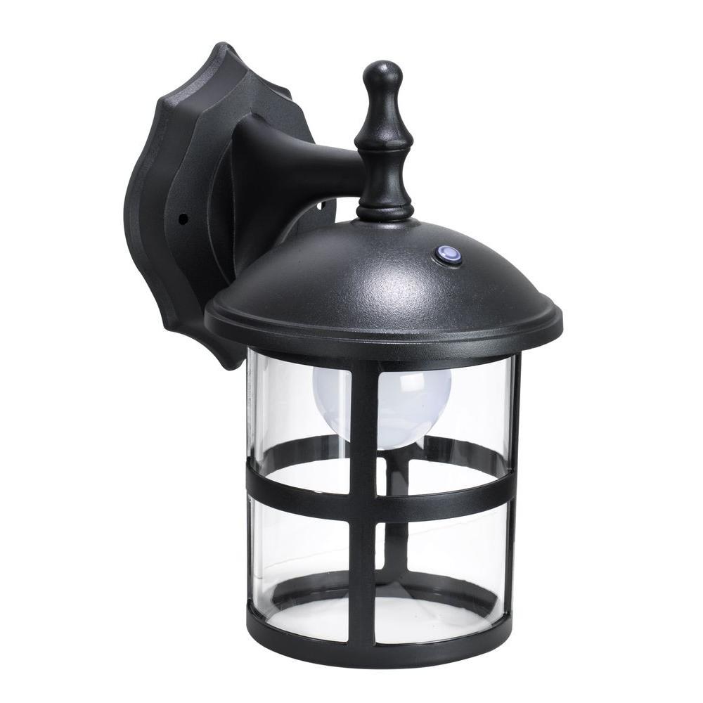 Black Outdoor LED Wall Mount Lantern