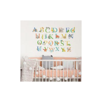 Multicolored Alphabet Animals Wall Decal