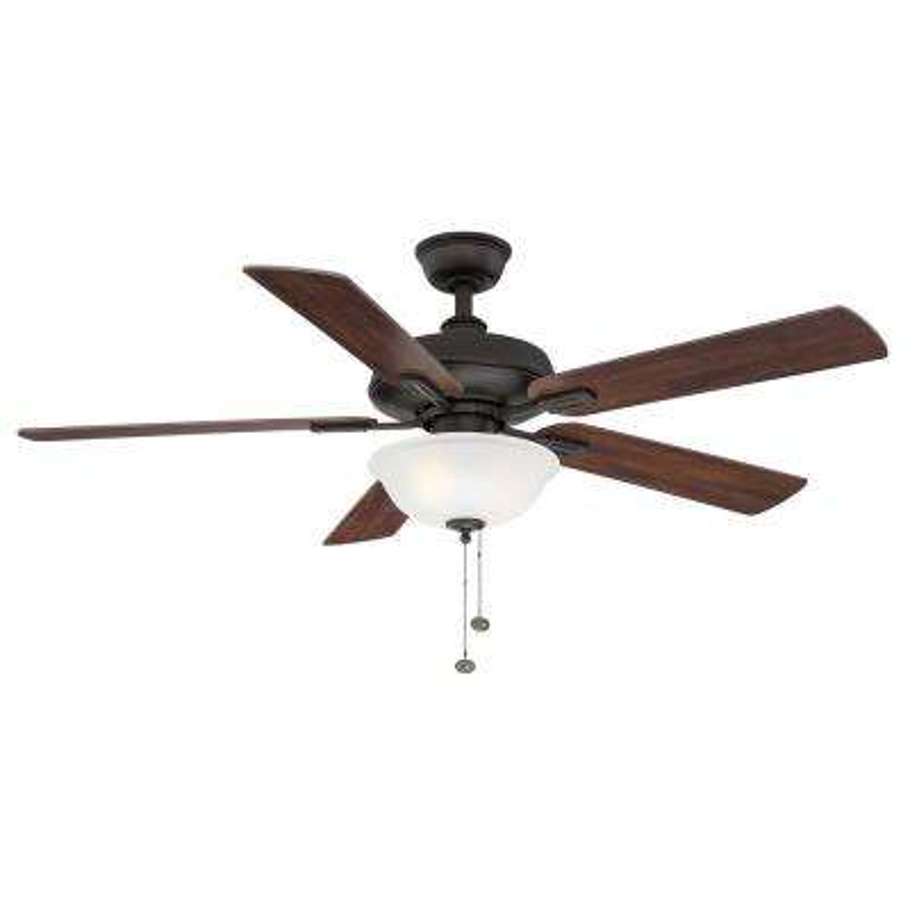 Larson 52 in. LED Oil Rubbed Bronze Ceiling Fan with Light Kit