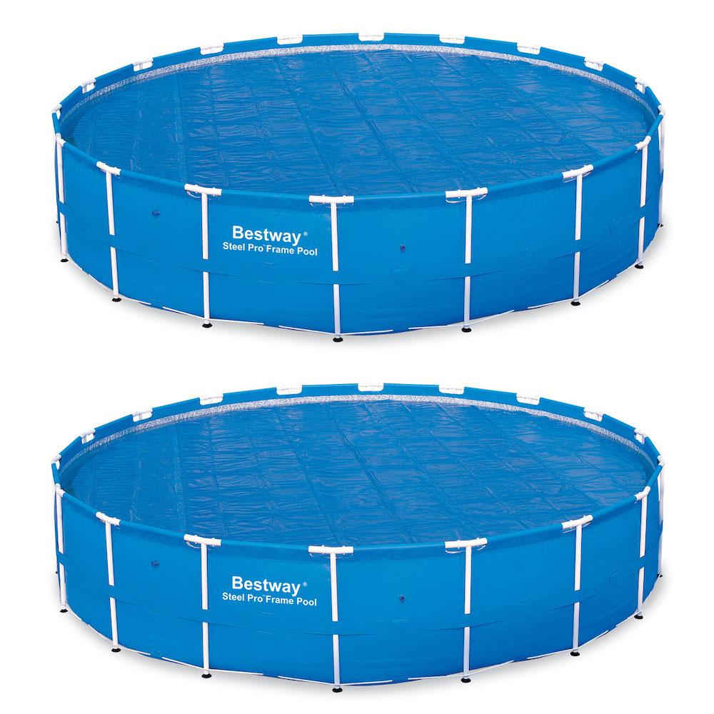 Bestway 18 ft. Round Above Ground Swimming Pool Solar Heat Cover (2-Pack)