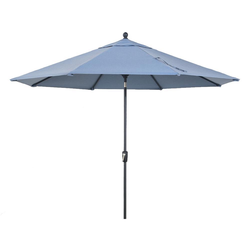 Richmond Hill 9 ft. Patio Umbrella in Spectrum Denim Blue
