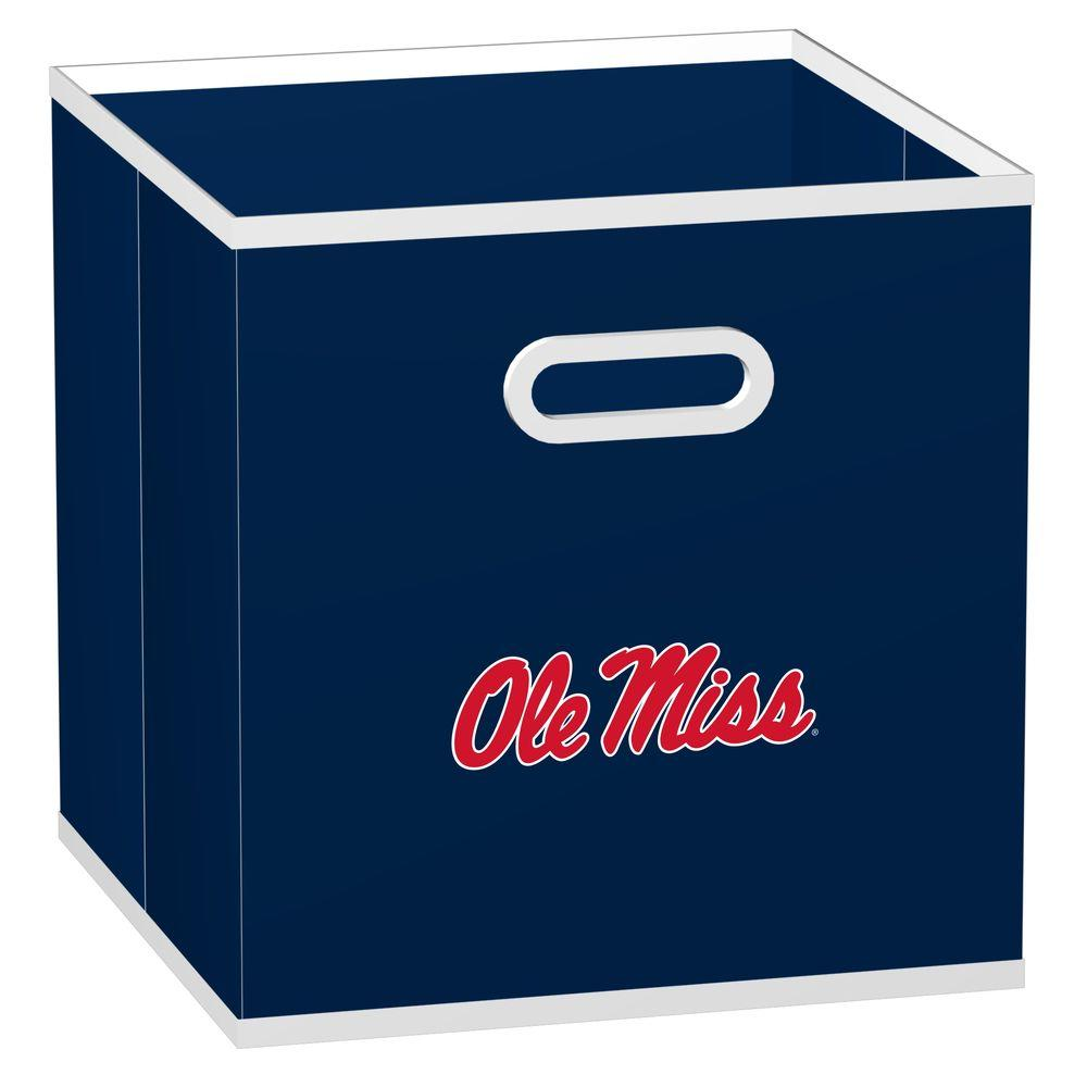 MyOwnersBox College STOREITS University of Mississippi 10-1/2 in. W x 10-1/2 in. H x 11 in. D Navy Fabric Storage Drawer