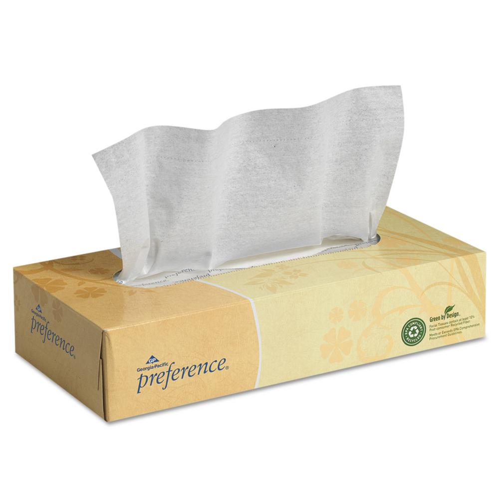 Preference White Facial Tissue (100-Count)