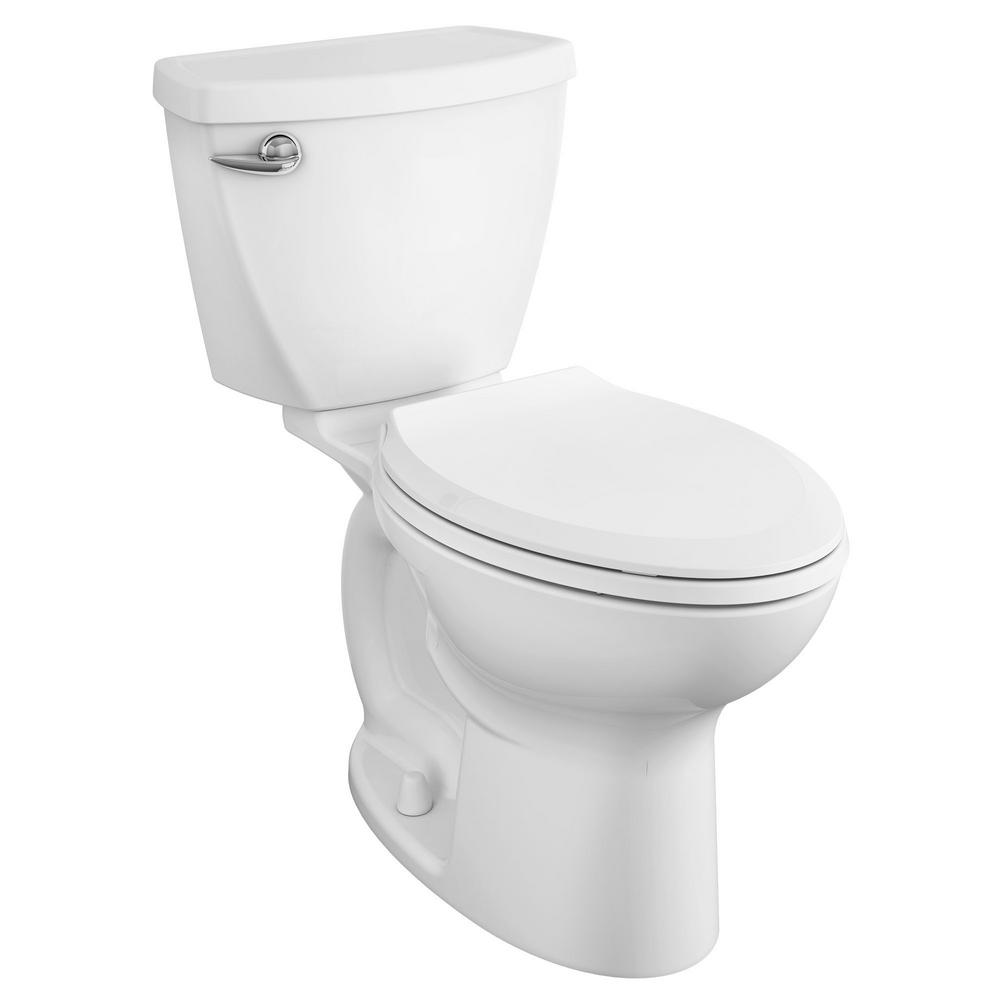 American Standard Cadet 3 FloWise Tall Height 2-Piece 1.28 GPF Single Flush High Efficiency Elongated Toilet with Slow Close Seat in White